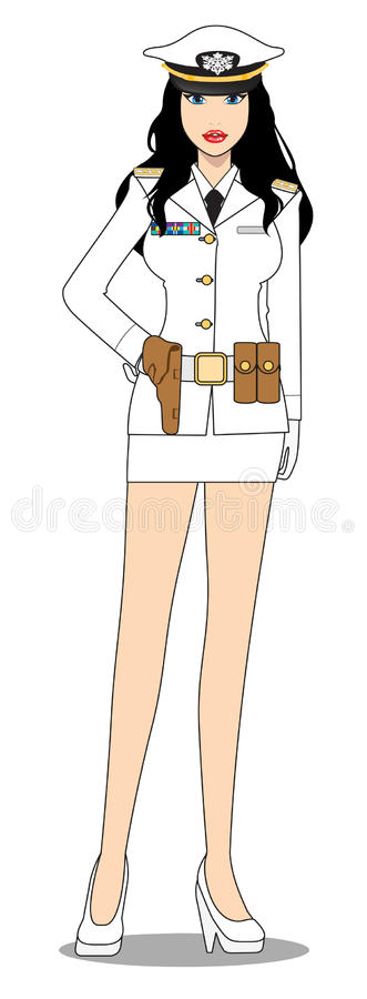 Download Mariner Female stock vector. Image of warship, shirt - 27617058