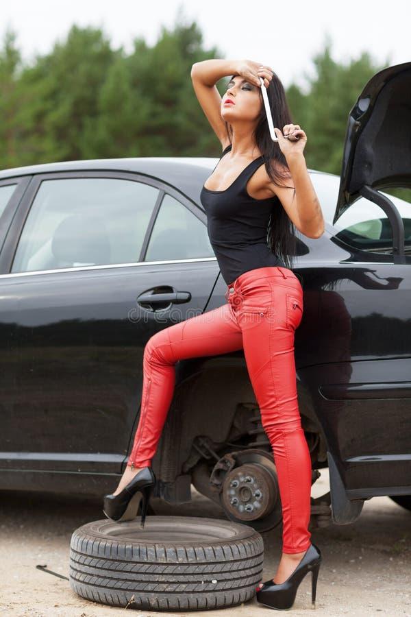 Mechanic. Repairing the car royalty free stock photography