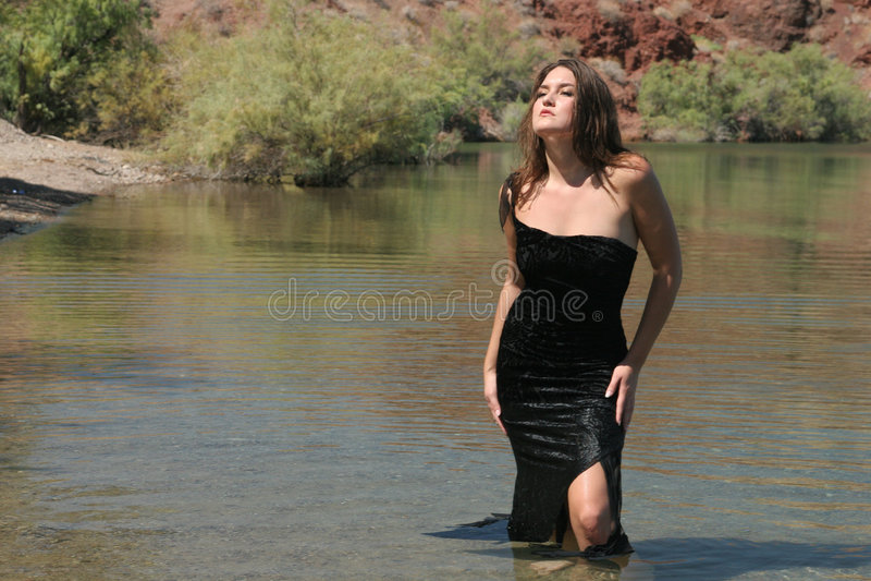 Sexy meisje in kleding stock afbeeldingen