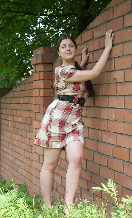 Sexy meisje in korte kleding stock afbeelding