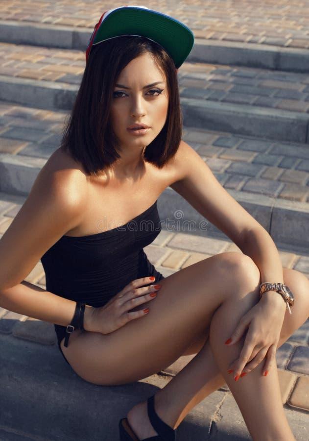 Sexy meisje op het strand royalty-vrije stock foto