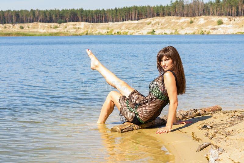 Sexy Meisje op Strand royalty-vrije stock foto