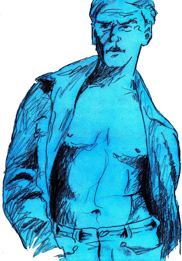 Sexy mens royalty-vrije illustratie