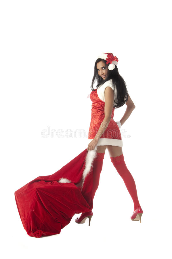 Sexy Mevr. Santa stock foto