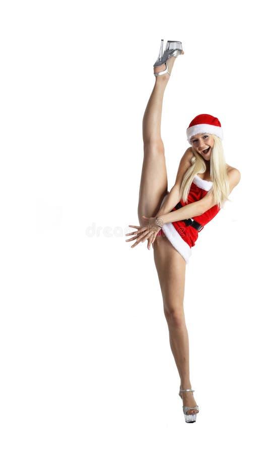 Sexy Mevr. Santa royalty-vrije stock foto's