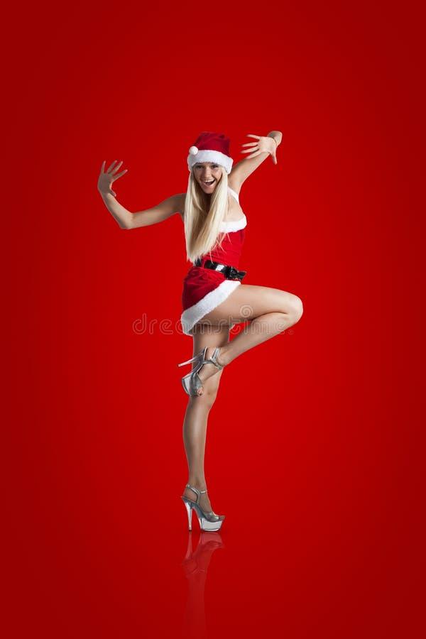 Sexy Mevr. Santa royalty-vrije stock foto