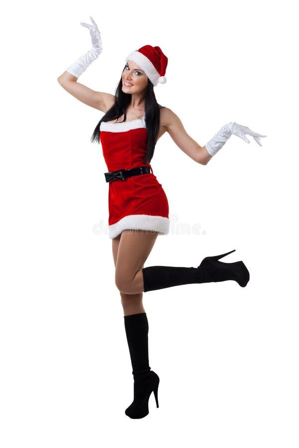 Sexy Mevr. Santa stock fotografie