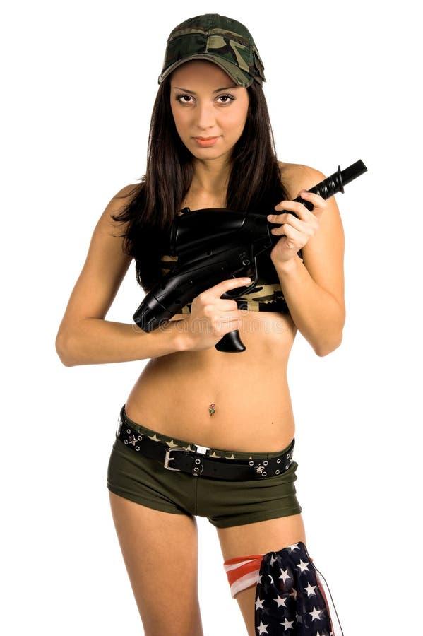 Sexy Militair royalty-vrije stock afbeeldingen