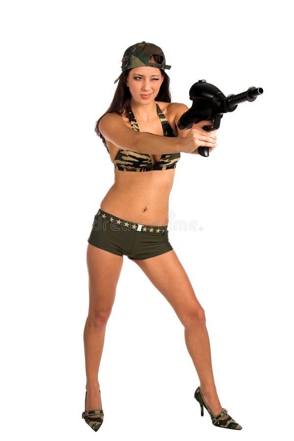 Sexy Militair royalty-vrije stock foto