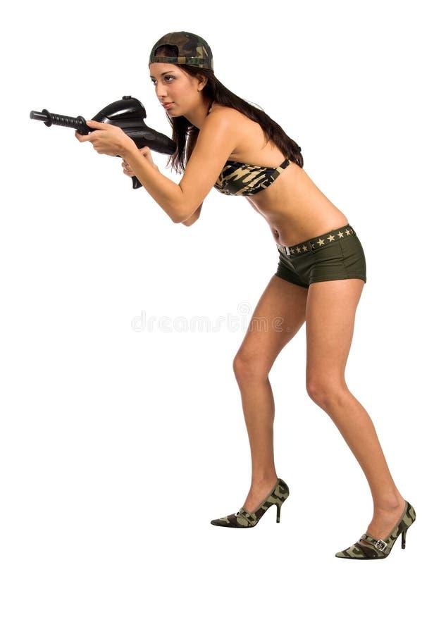 Sexy Militair royalty-vrije stock foto's