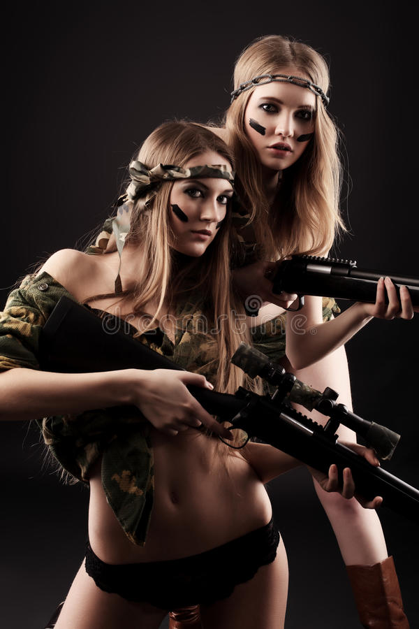 Sexy militairen royalty-vrije stock afbeelding