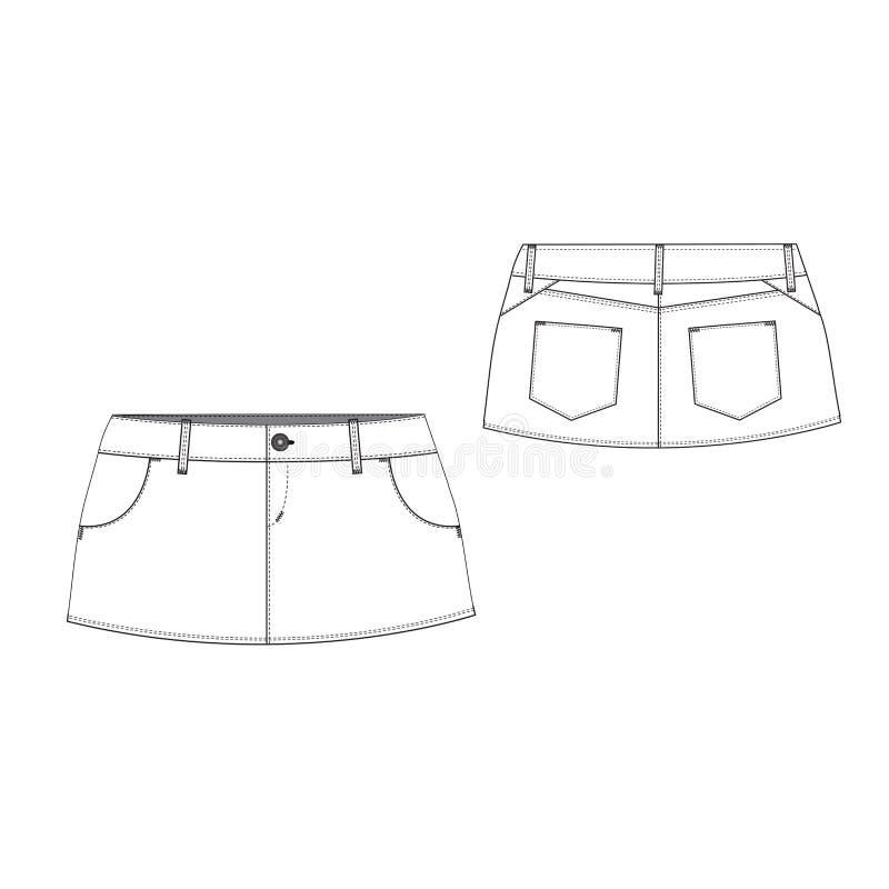 Download Mini Skirt stock vector. Illustration of icon, cloth - 39501154