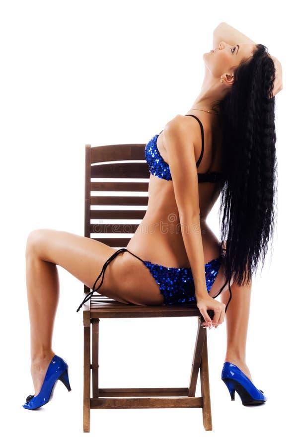 Sexy model in bikini royalty-vrije stock foto's