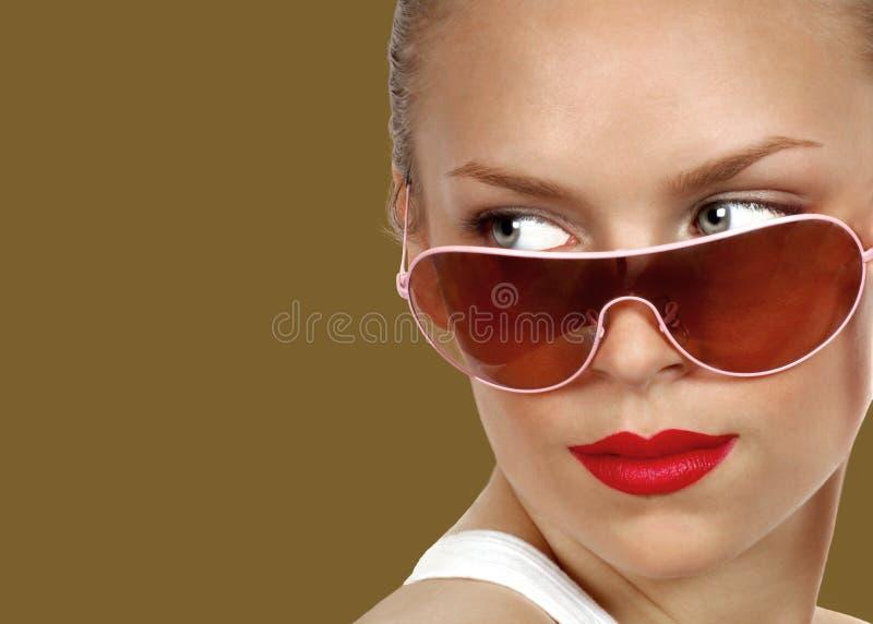 Sexy Model met Zonnebril royalty-vrije stock afbeeldingen