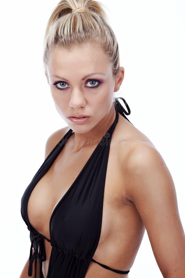 Download Model wearing black bikini stock photo. Image of beautiful - 12994808