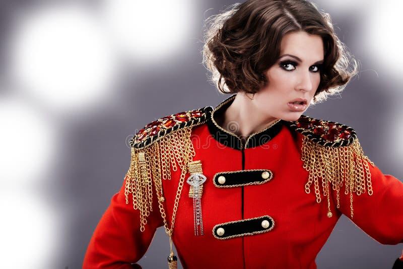 Model Wearing  Uniform Royalty Free Stock Image
