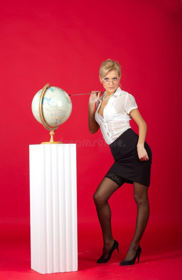 Sexy mooie vrouwenleraar royalty-vrije stock foto's