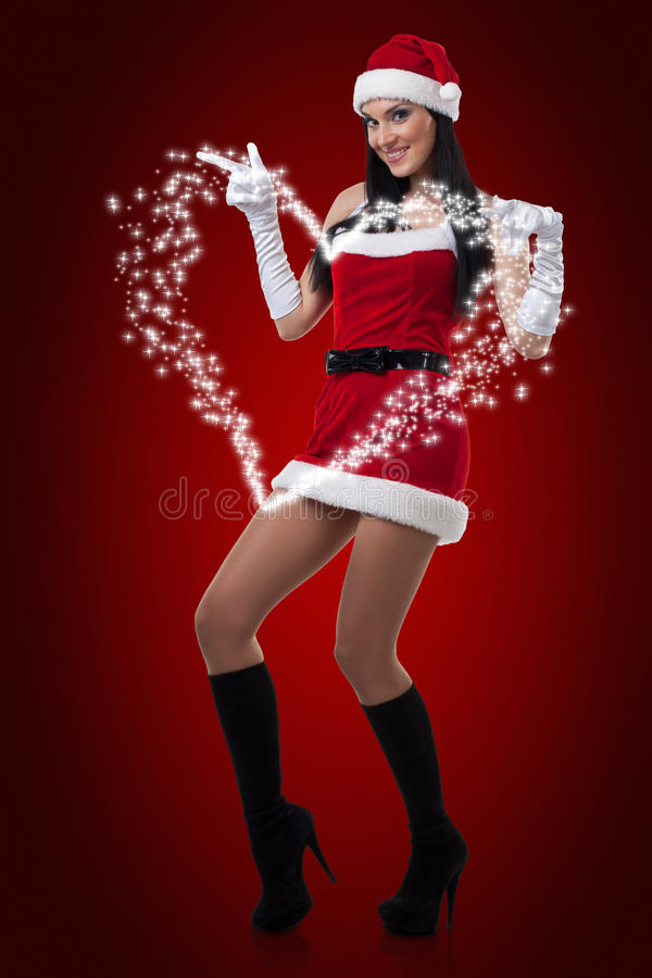Download Mrs. Santa stock image. Image of attractive, beauty, smile - 16766933