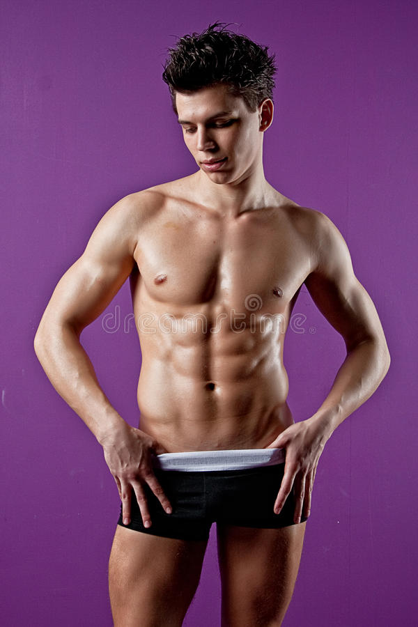 muscle wet young man royalty free stock images