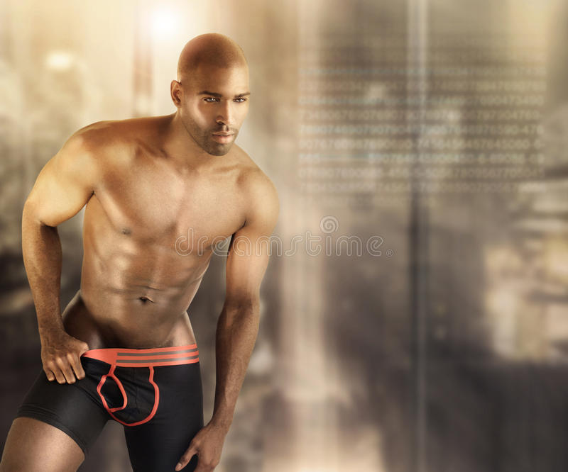 Hot male model royalty free stock photography