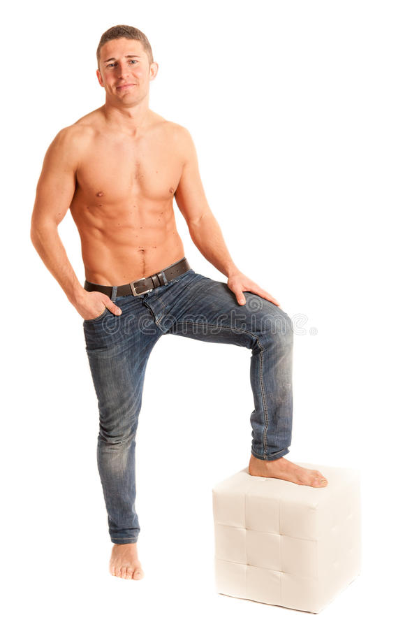 Download Muscular man stock photo. Image of cotton, individual - 30507182