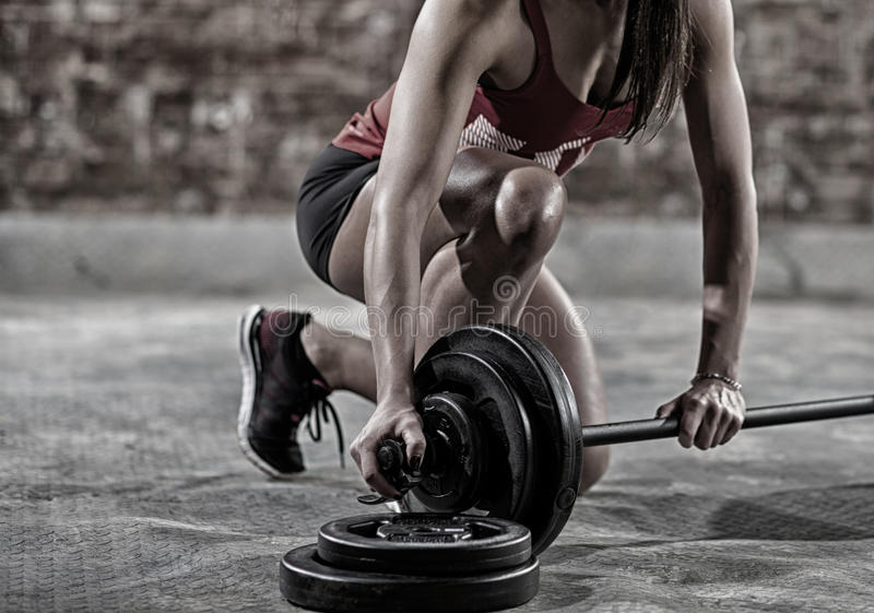 muscular woman royalty free stock images