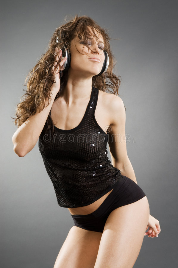 Music Lover In Dance Stock Image