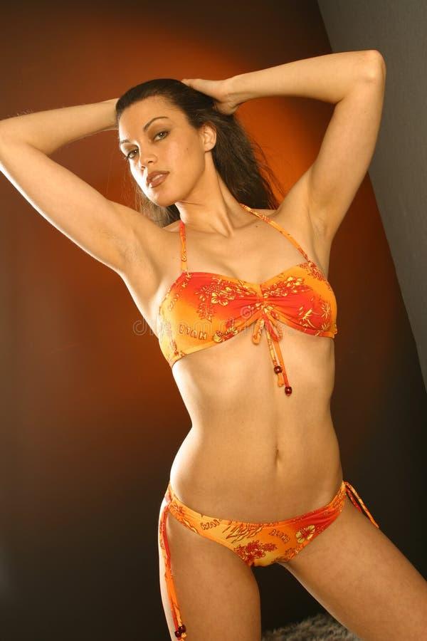 'sexy' na laranja fotografia de stock royalty free