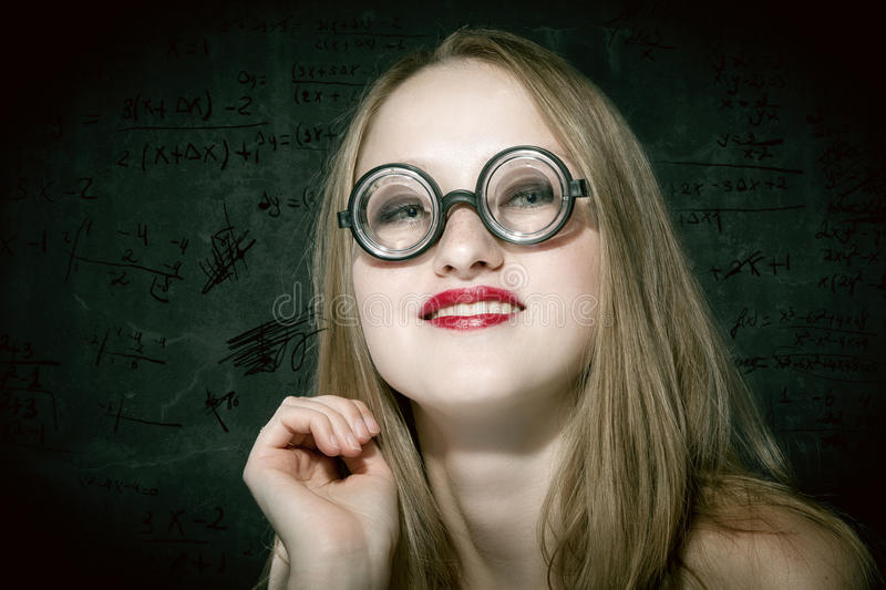 Download Nerd - Blonde stock image. Image of copy, earrings, look - 27022477