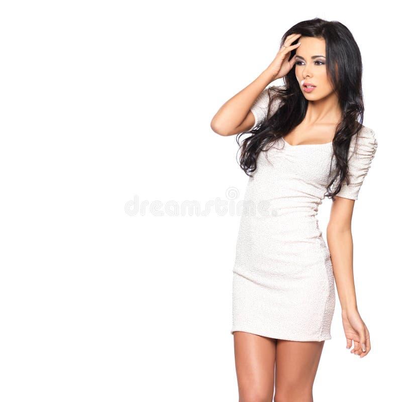 'sexy' no vestido fotografia de stock royalty free