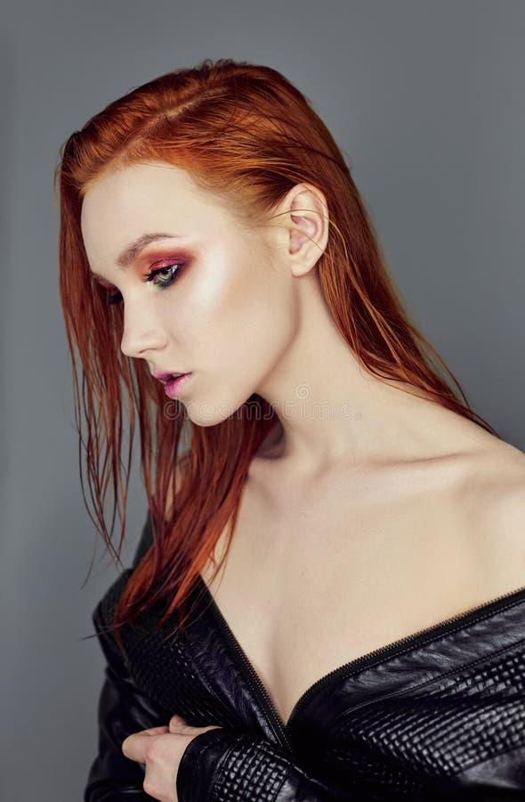 Premium Photo | Sexy nude beautiful redhead girl with long