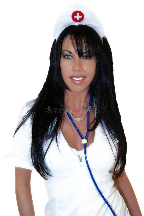 Download Nurse stock image. Image of over, white, medicine, brunette - 155409