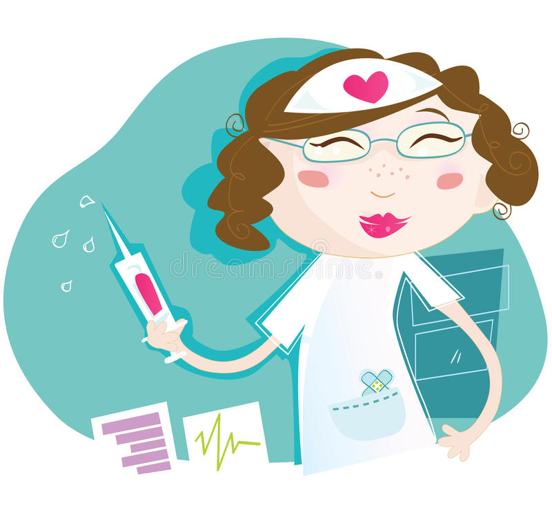 Download Nurse stock vector. Image of emergency, care, drawing - 9818818