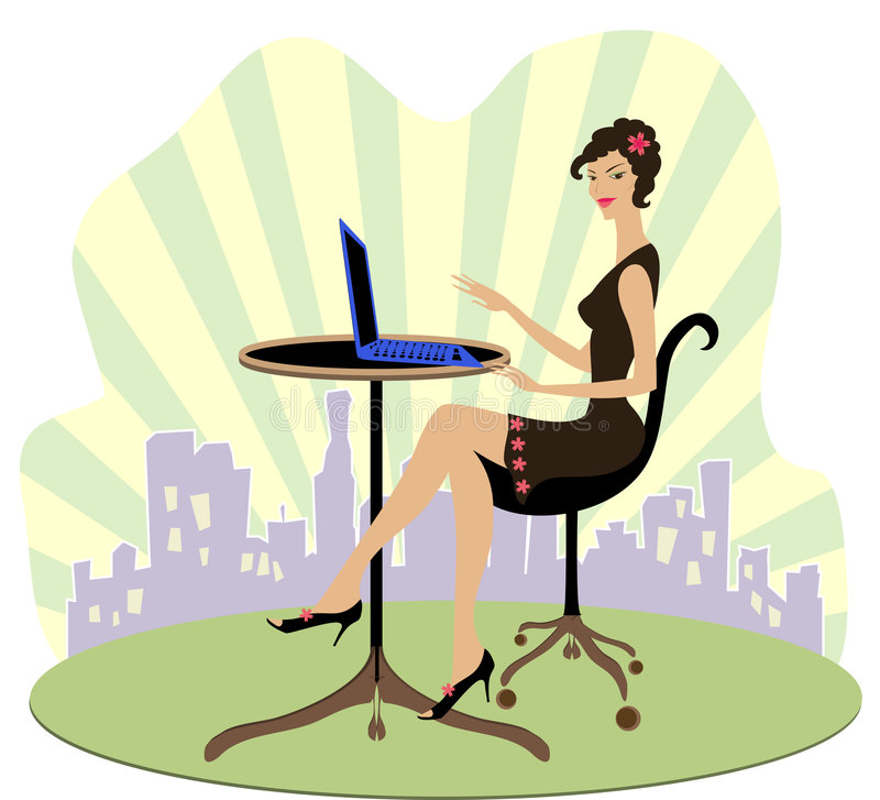 Download Office worker stock vector. Image of beautiful, furniture - 2439421