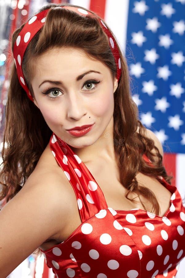 Download Patriotic American  Girl stock image. Image of hair, patriot - 12144231