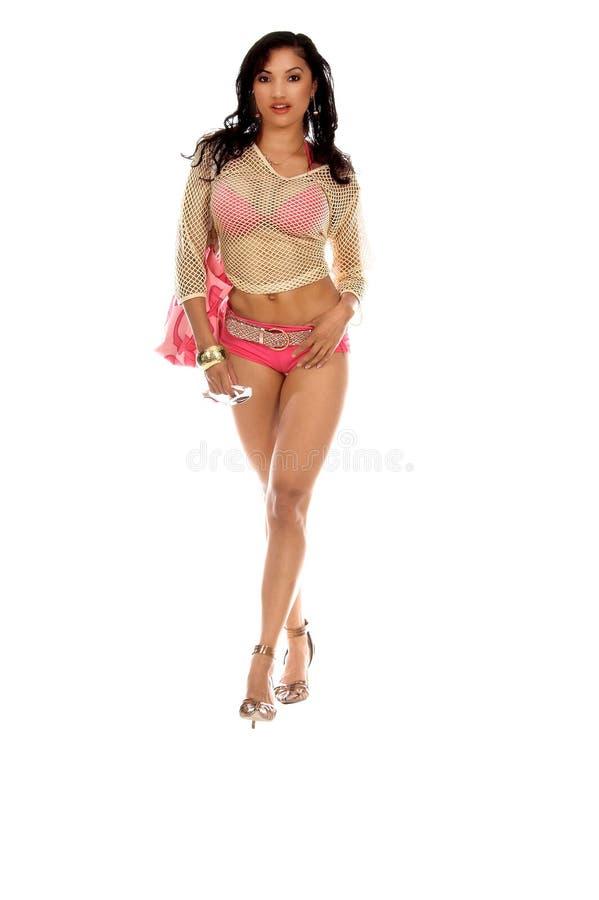 Pink Bikini royalty free stock images