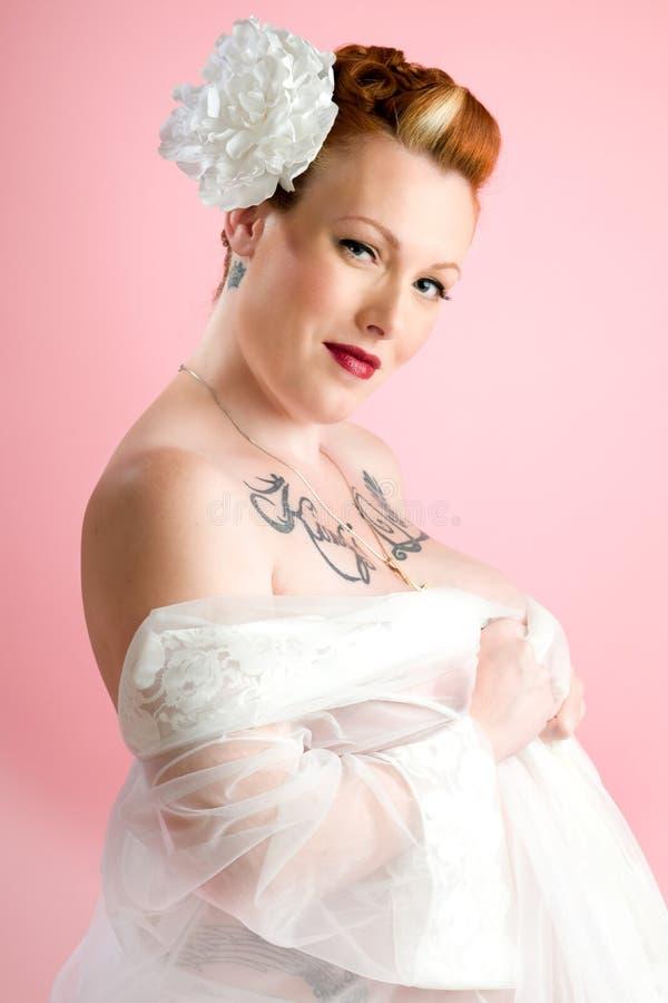 Sexy pinupmodel royalty-vrije stock fotografie