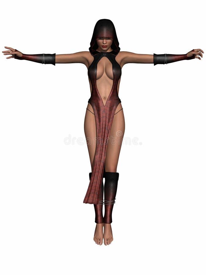 Sexy Priestess van de Fantasie vector illustratie