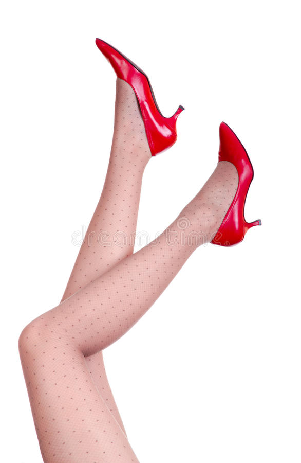Download Red shoes stock image. Image of female, lifestyle, body - 21932111