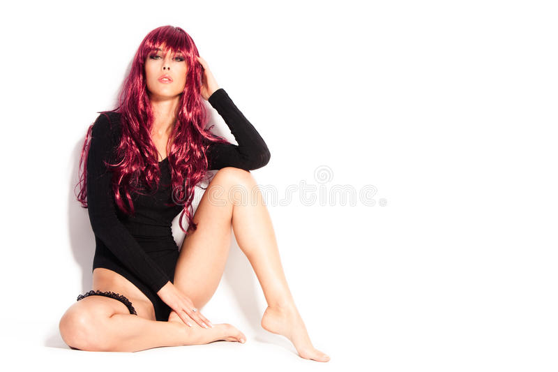 Download Red wig stock image. Image of underwear, woman, attractive - 24974561
