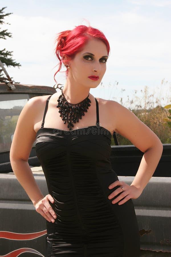 Download Pretty Redhead stock photo. Image of black, beautiful - 33771164