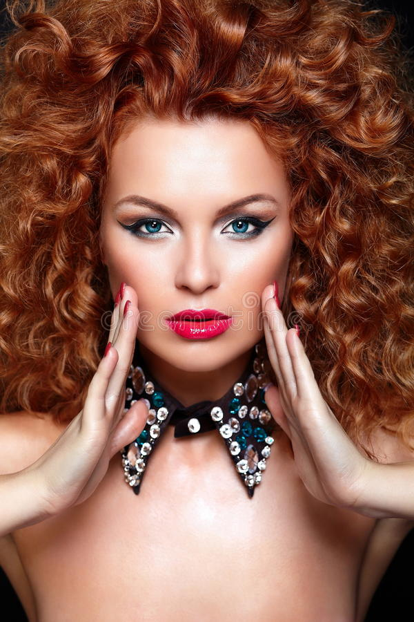 Redhead Model With Perfect Clean Skin Stock Image - Image -9306
