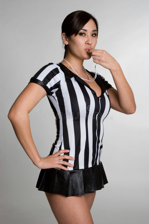Referee Girl. Beautiful asian referee girl royalty free stock photos