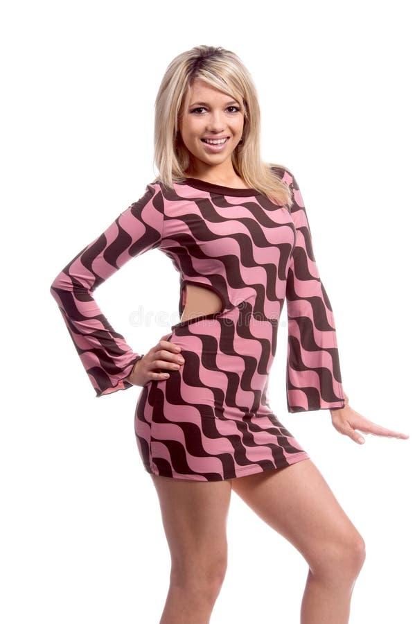 Sexy Retro Blond royalty-vrije stock afbeeldingen