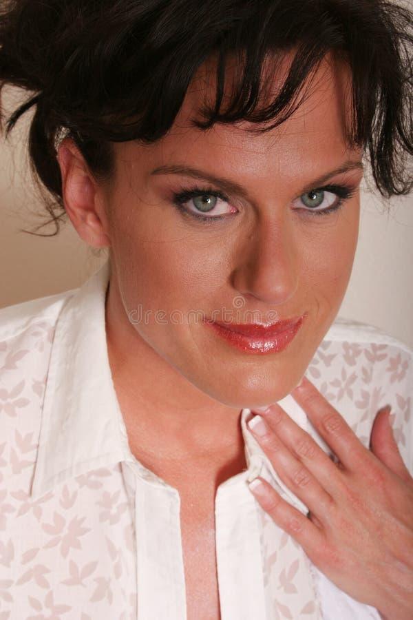Sexy rijpe vrouw stock fotografie