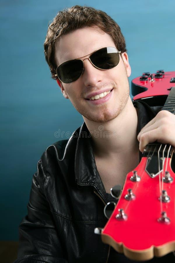 rock man sunglasses leather jacket royalty free stock photos