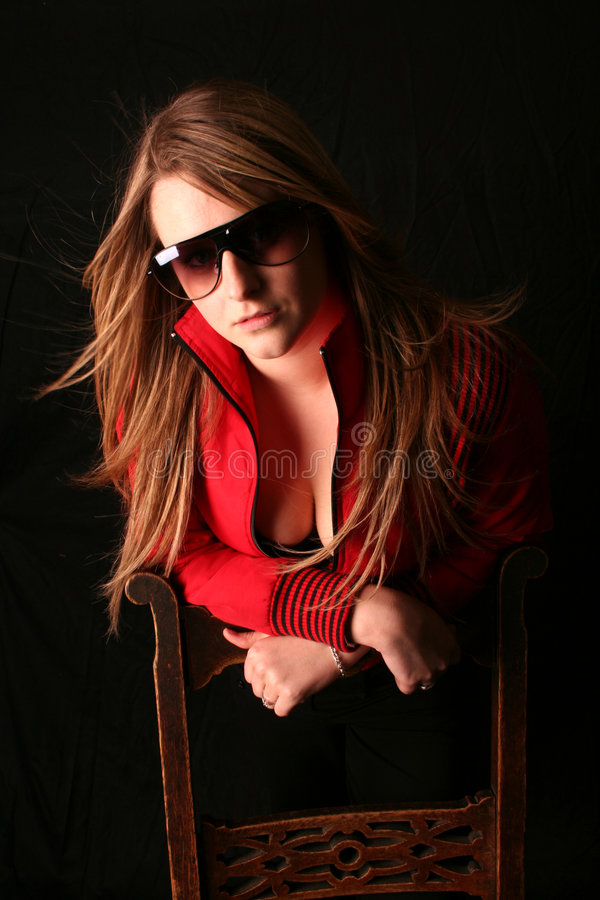 Sexy in Rode Laura royalty-vrije stock afbeelding