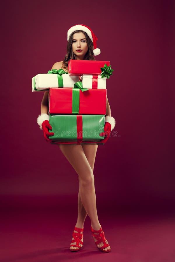 Sexy santa stock foto