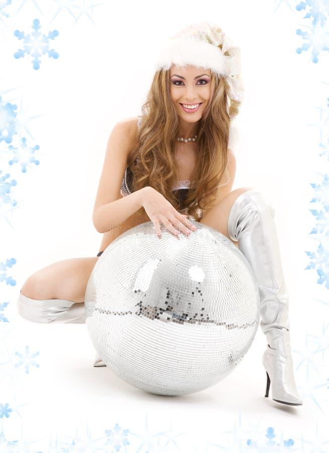 Download Santa Helper With Big Disco Ball Stock Image - Image: 6593529