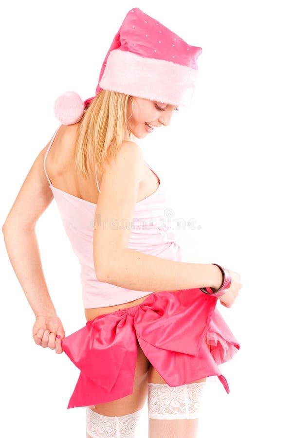 Download Santa helper girl stock photo. Image of human, color, caucasian - 7194738